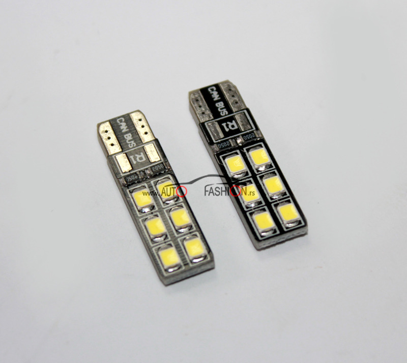 LED sijalica T10 12 SMD – PLOČASTA