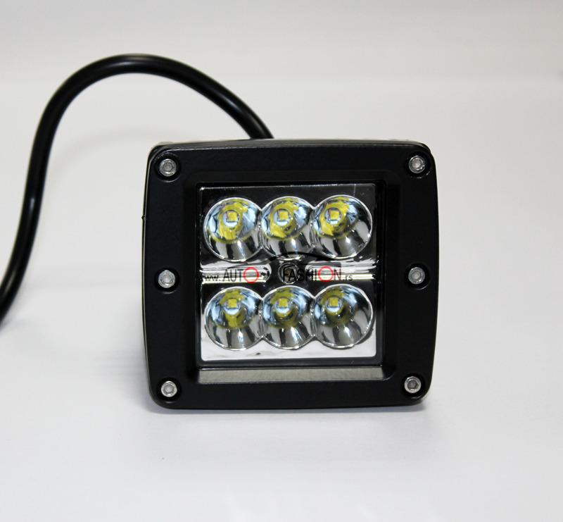 LED radni far mini KOCKA 18W