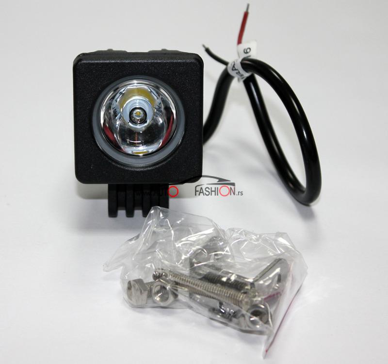 LED far za motor 10w 5x5cm sa držačem