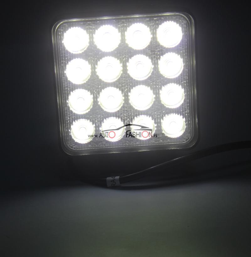 LED radni far četvrtasti 48W