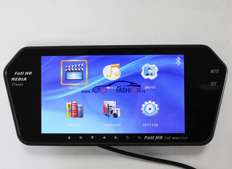 Multimedijalni BLUETOOTH LED monitor 7 inča -za automobil