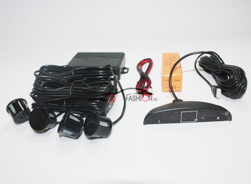 Parking senzor sa svetlosnim indikatorom CRNI