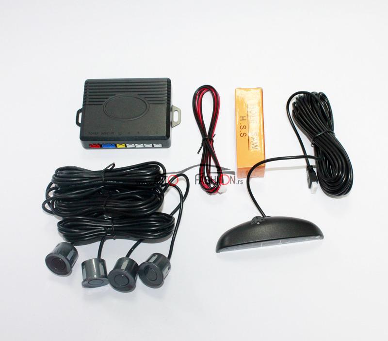 Parking senzor sa svetlosnim indikatorom TAMNO SIVI