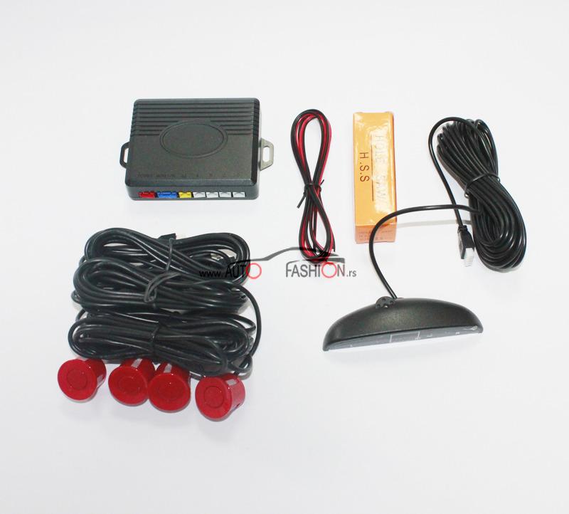 Parking senzor sa svetlosnim indikatorom CRVENI