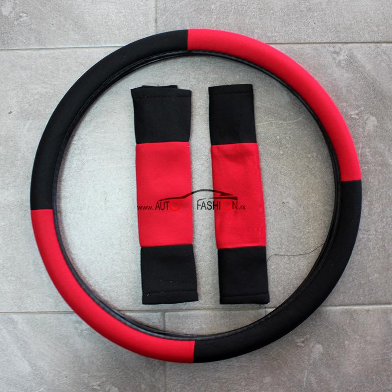 Presvlaka za sedišta sa oblogom volana univerzalna – CRNO CRVENA