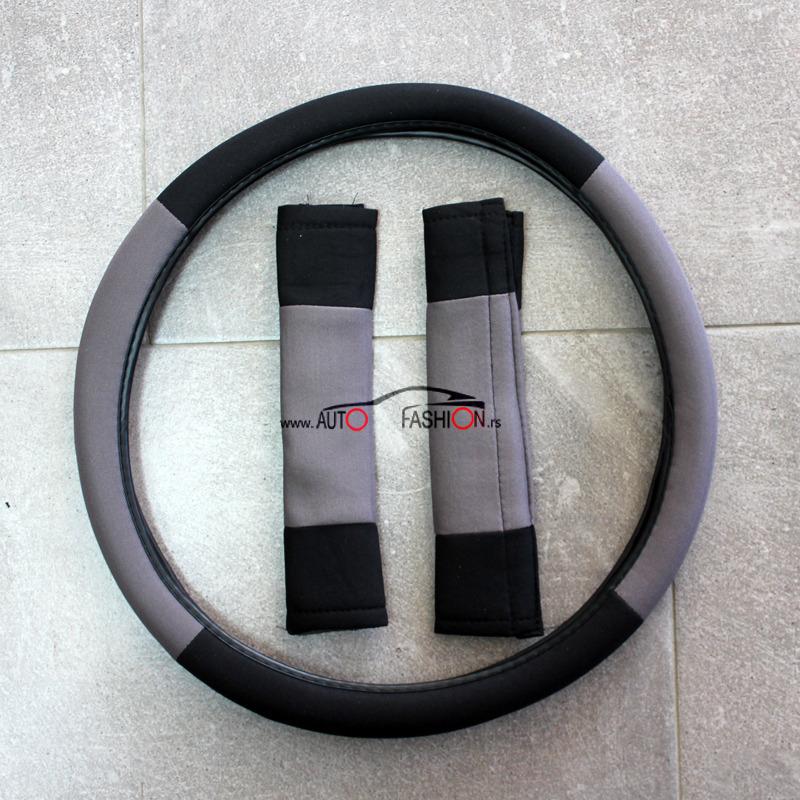 Univerzalna presvlaka za sedišta sa oblogom volana – CRNO SIVA