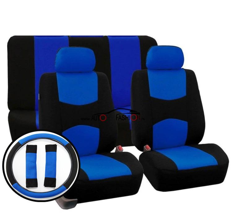 Presvlaka za sedišta sa oblogom volana univerzalna – CRNO PLAVA