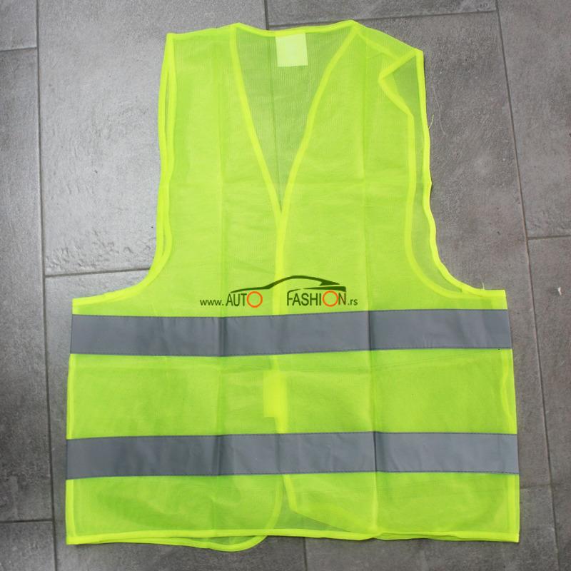 Reflektujući prsluk – fluorescentni žuti -120 gramski