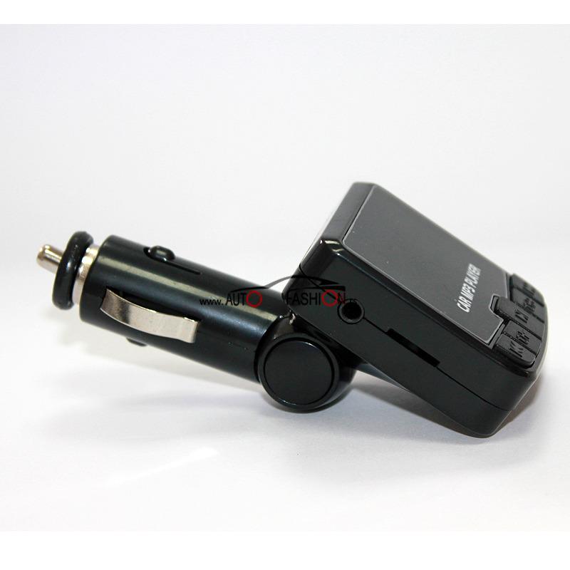 Transmiter FM MP3 na auto upaljač CRNI