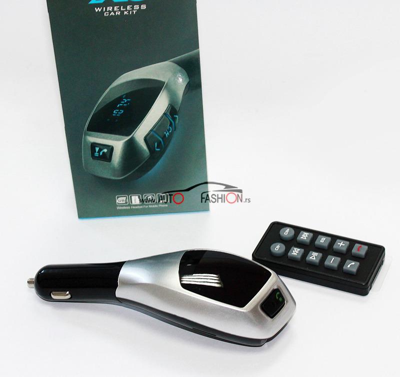 Transmiter FM MP3 X6 Bluetooth sa daljincem