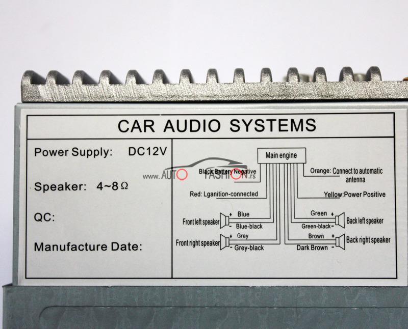 Auto radio Bluetooth + skida se pločica
