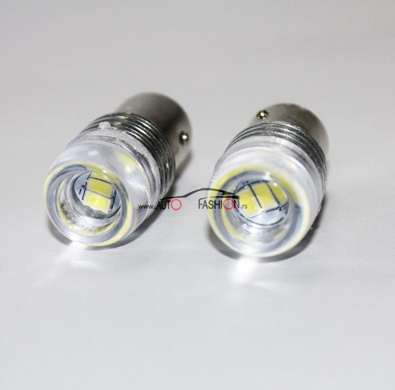 LED sijalica BA15S 12V  sočivo 3 diode – dva vlakna