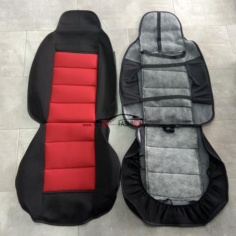 Presvlake za prednja sedišta CARTEX COMBO – crno crveni