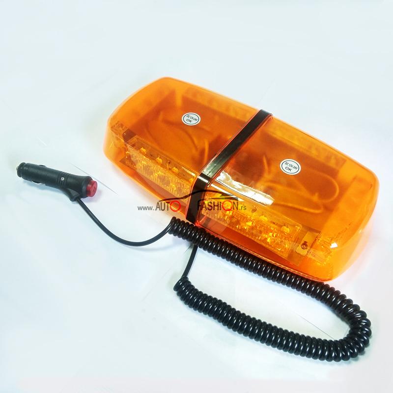 LED CREE rotacija BAR mala 12V – žuta plastika