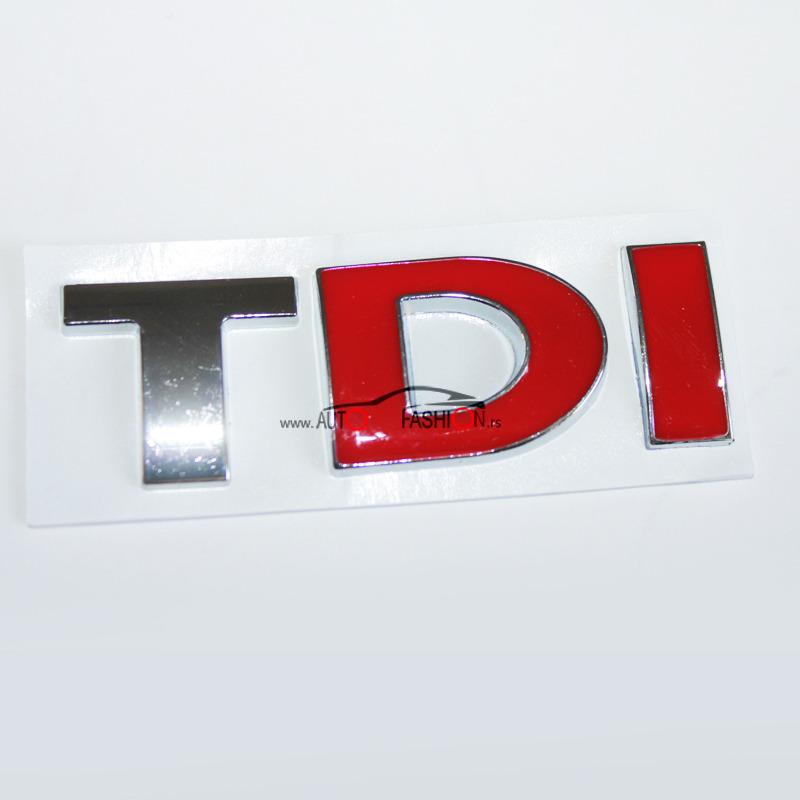 Natpis TDI – crveno DI