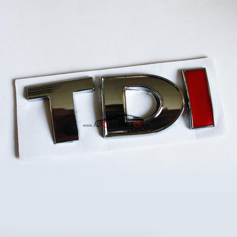 Natpis TDI – crveno I