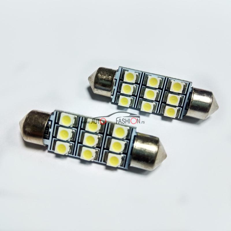 LED sijalica Festoon C10W C5W 39mm 9 dioda