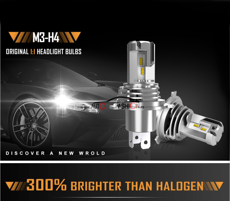 LED set M3 H4 PREMIUM