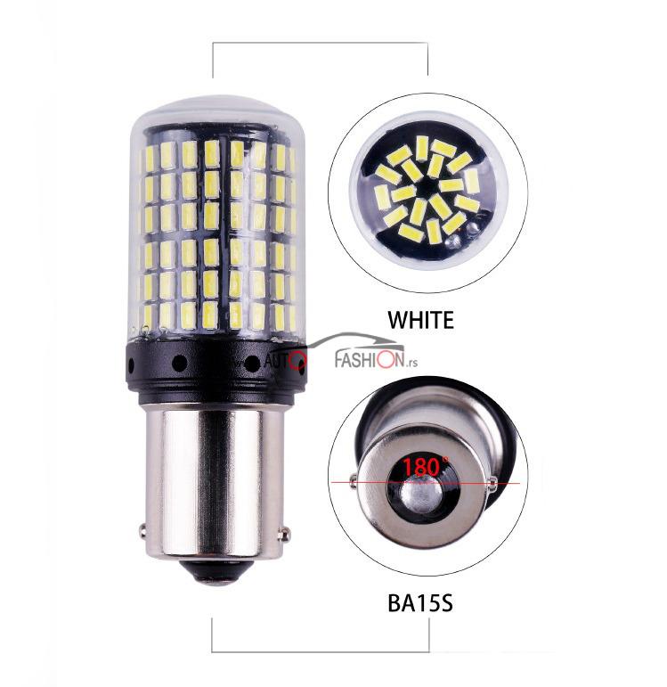 LED sijalica BA15S P21W CANBUS 144 smd