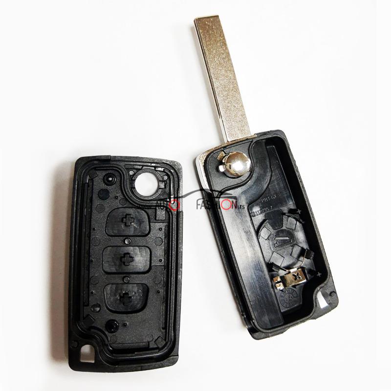 Kućište ključa PEŽO CITROEN skakavac (SVETLO) tri tastera sa držačem bat.