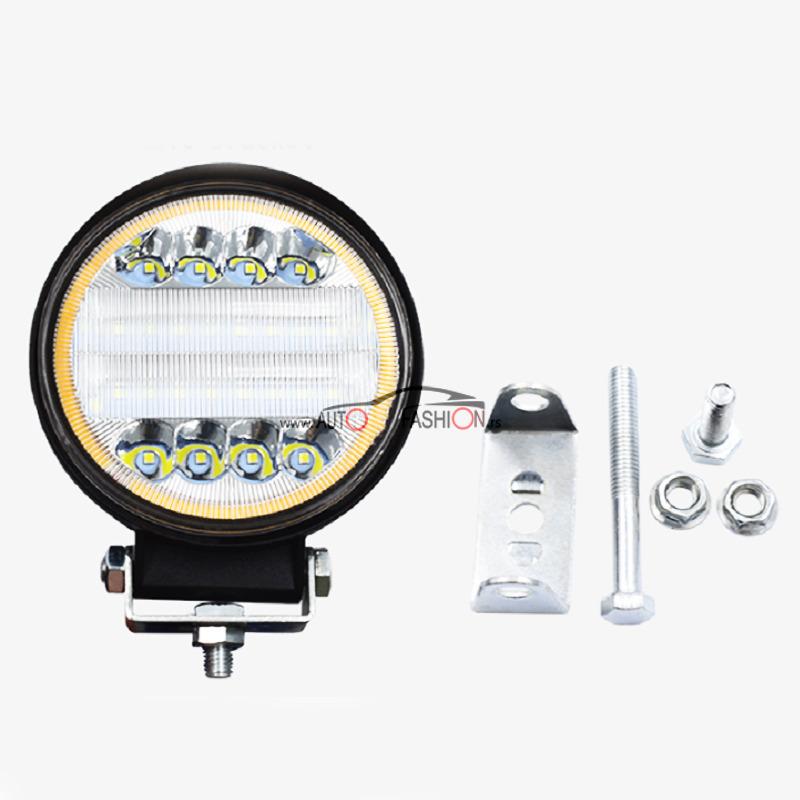 LED FAR Radni 72W 12V-24V okrugli sa dodatnim žutim svetlom