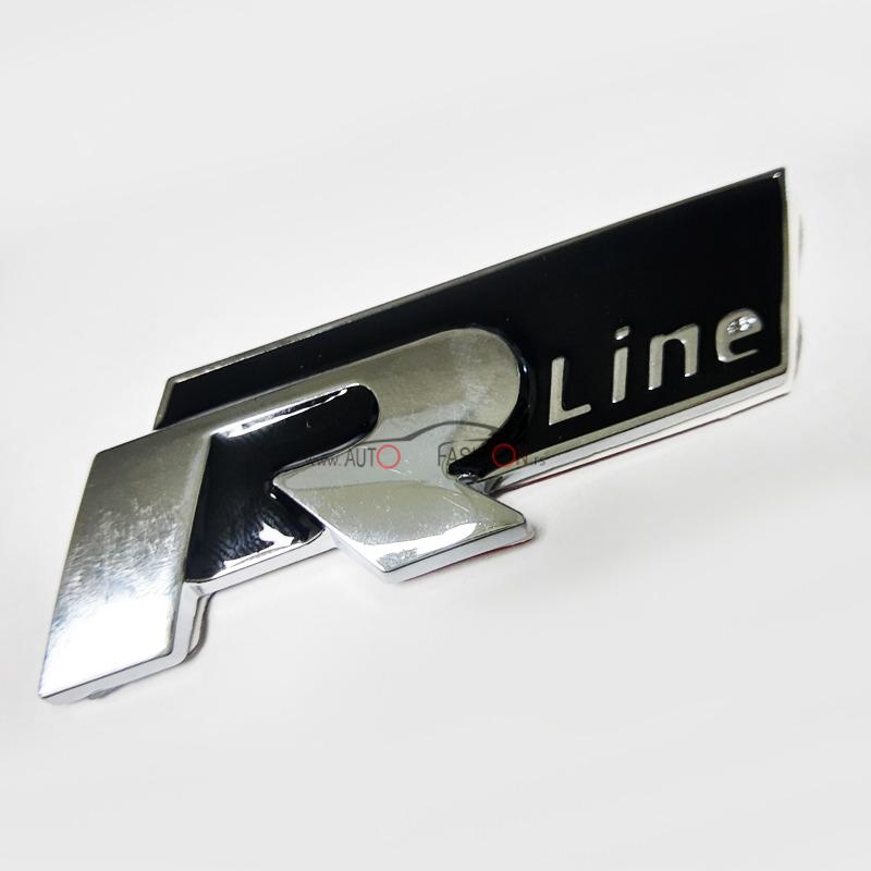 Natpis R line crni